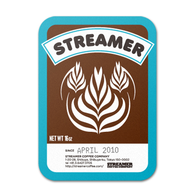STREAMER COFFEE COMPANY Sticker